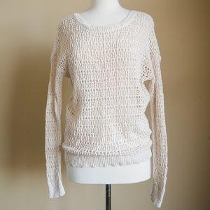 American Eagle Crochet Long Sleeve Sweater